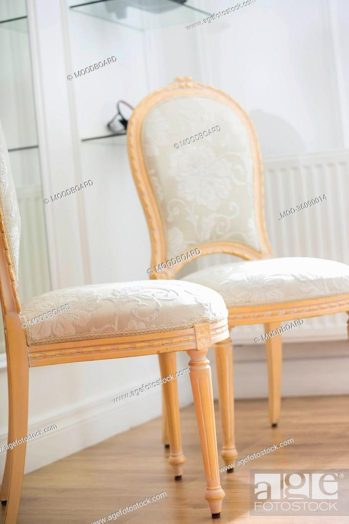 Stock Photo: Chairs in store.