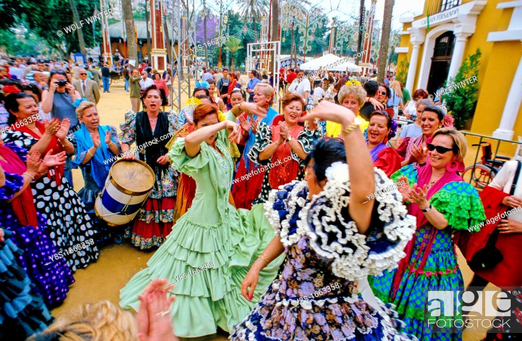 Stock Photo: Feria de Caballo, Jerez, Andalucia.