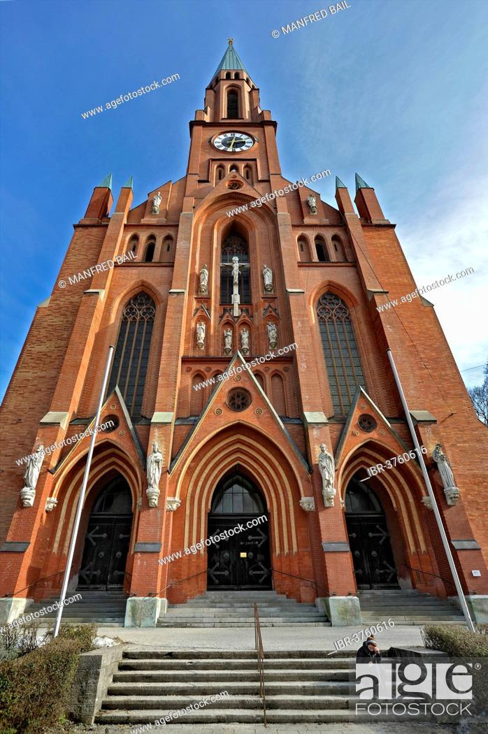 Stock Photo: St. John's Church, Au-Haidhausen, Munich, Upper Bavaria, Bavaria, Germany.