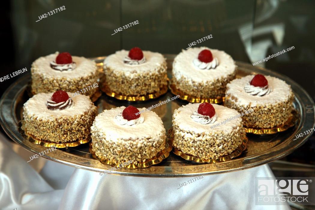 Stock Photo: Small cakes in Parma, Emilia-Romagna, Italy.