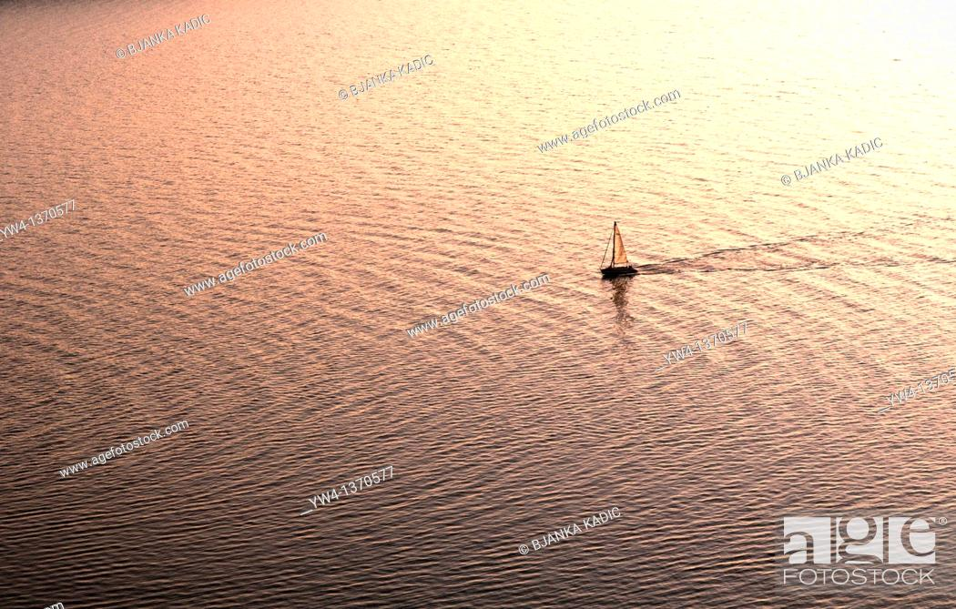 Stock Photo: Sailing boat, Split, Croatia.