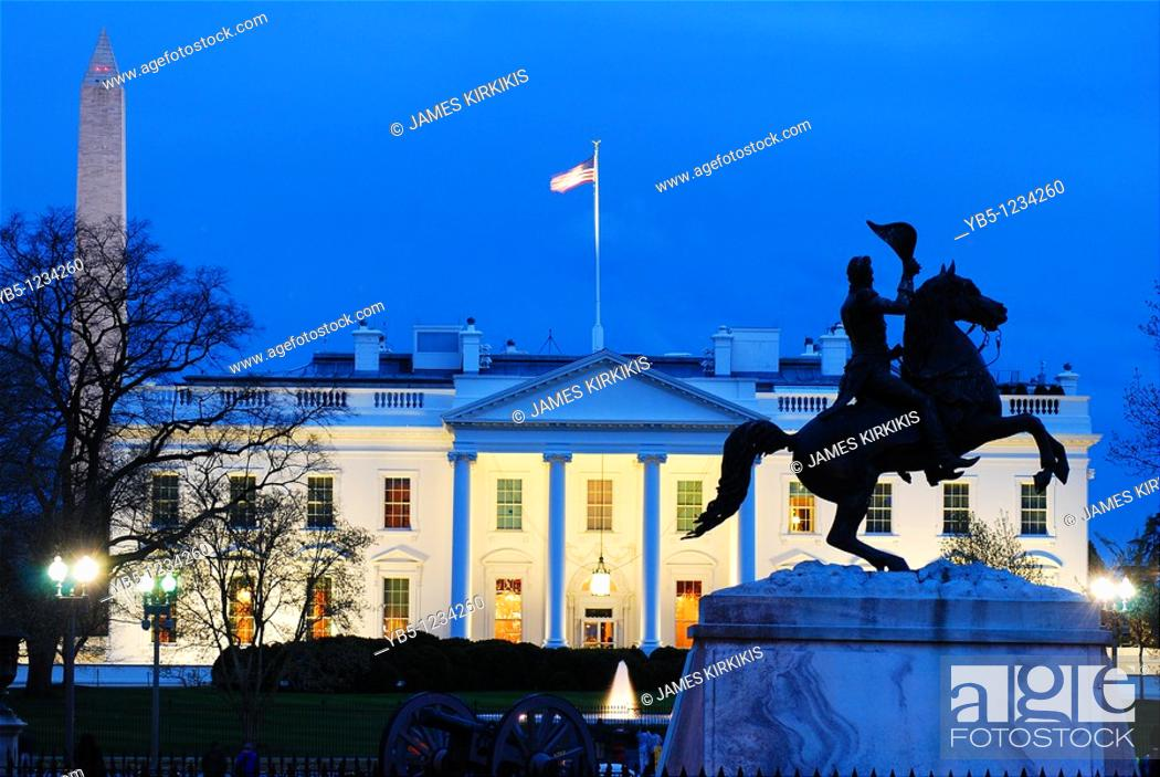 Imagen: Lafayette Park and White House.
