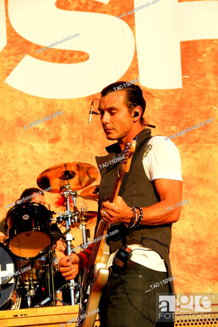 Stock Photo: Vocalist/Guitarist Gavin Rossdale of Bush performs at the Epicenter 2010 Music Festival at Auto Club Speedway on September 25, 2010 in Fontana, California.