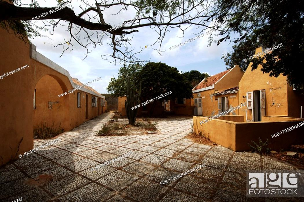 Stock Photo: Netherlands Antilles, Bonaire, ruin of former colonial house.
