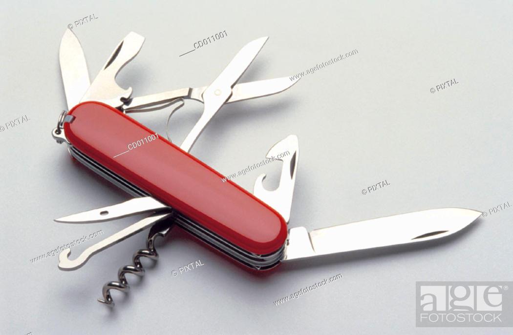 Stock Photo: Swiss army knife.