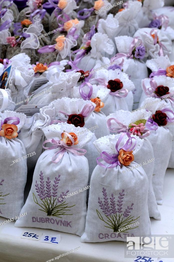 Stock Photo: Croatia, Dubrovnik  sachets of lavender.