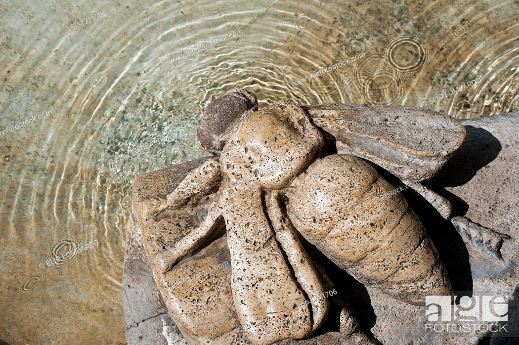 Stock Photo: Detail of Fountain of the Bees, Piazza Barberini  Rome, Italy.