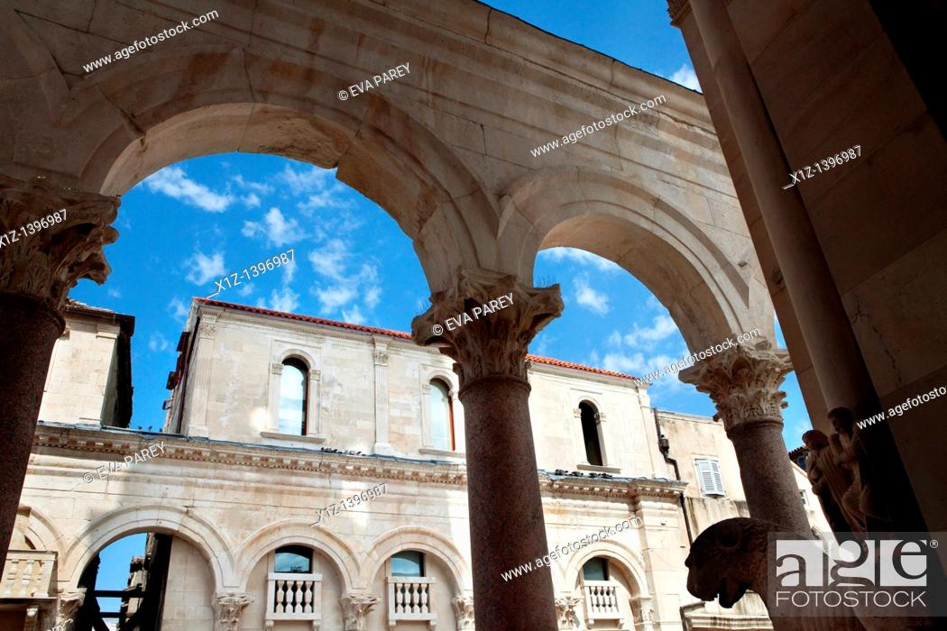 Stock Photo: The Dioclecianan Palace in Split Croatia.