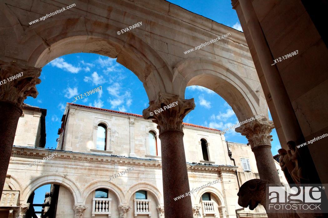 Stock Photo: The Dioclecianan Palace in Split Croatia.
