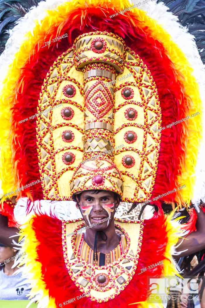 Stock Photo: Participant in the Dinagyang Festival in Iloilo Philippines.