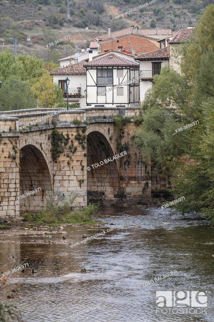Stock Photo: Covarrubias, Burgos province, Spain.