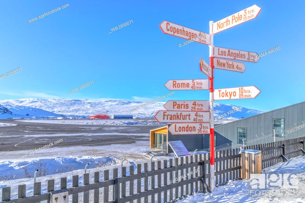 Stock Photo: airport in Kangerlussuaq, Artic Circle, Greenland, Europe.