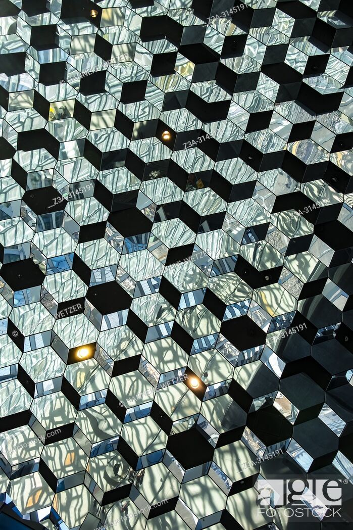 Stock Photo: Interior of the Harpa Concert Hall and Conference Centre in Reykjavic, Iceland.