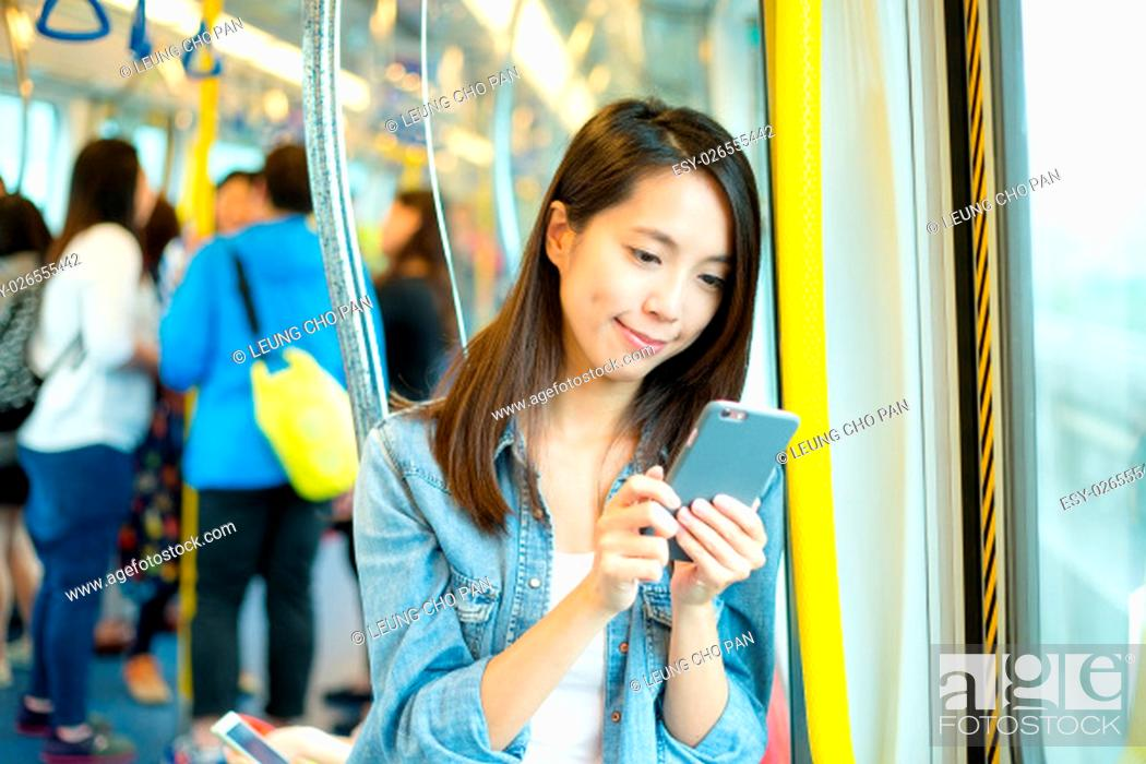 Stock Photo: Woman use of mobile phone.