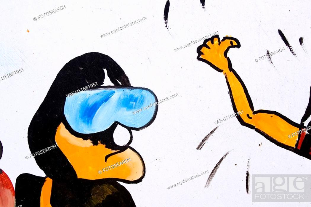 Stock Photo: Cartoon, Character, Close-Up, Graphic, Head And Shoulders.