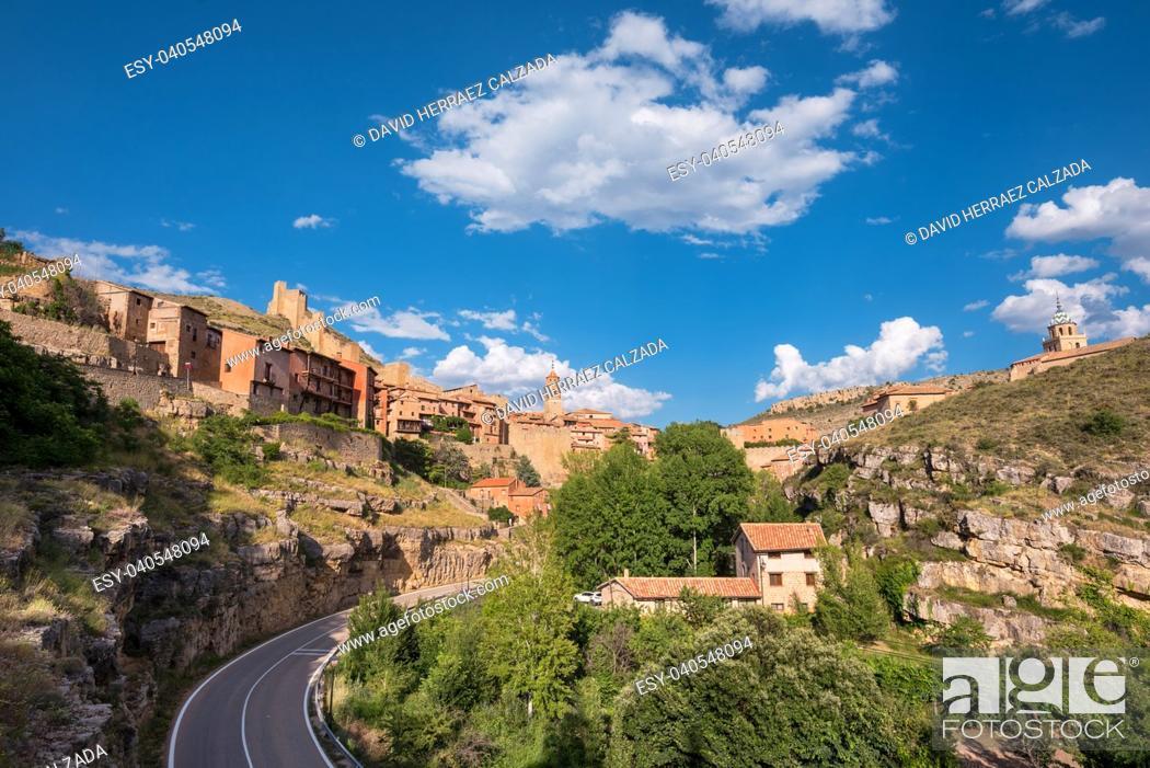 Stock Photo: Albarracin, medieval village in teruel, Spain.