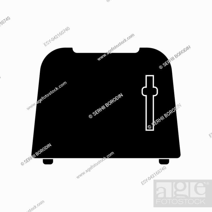 Stock Vector: Toaster it is black color icon .
