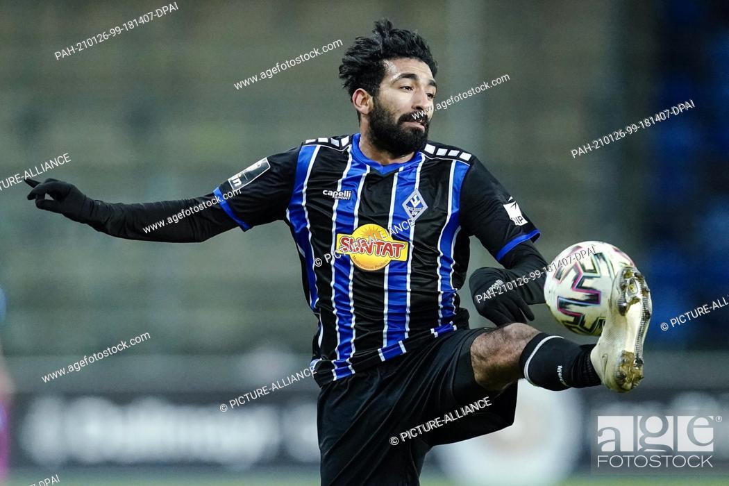 Imagen: 26 January 2021, Baden-Wuerttemberg, Mannheim: Football: 3. league, SV Waldhof Mannheim - Dynamo Dresden, Matchday 21, Carl-Benz-Stadion.