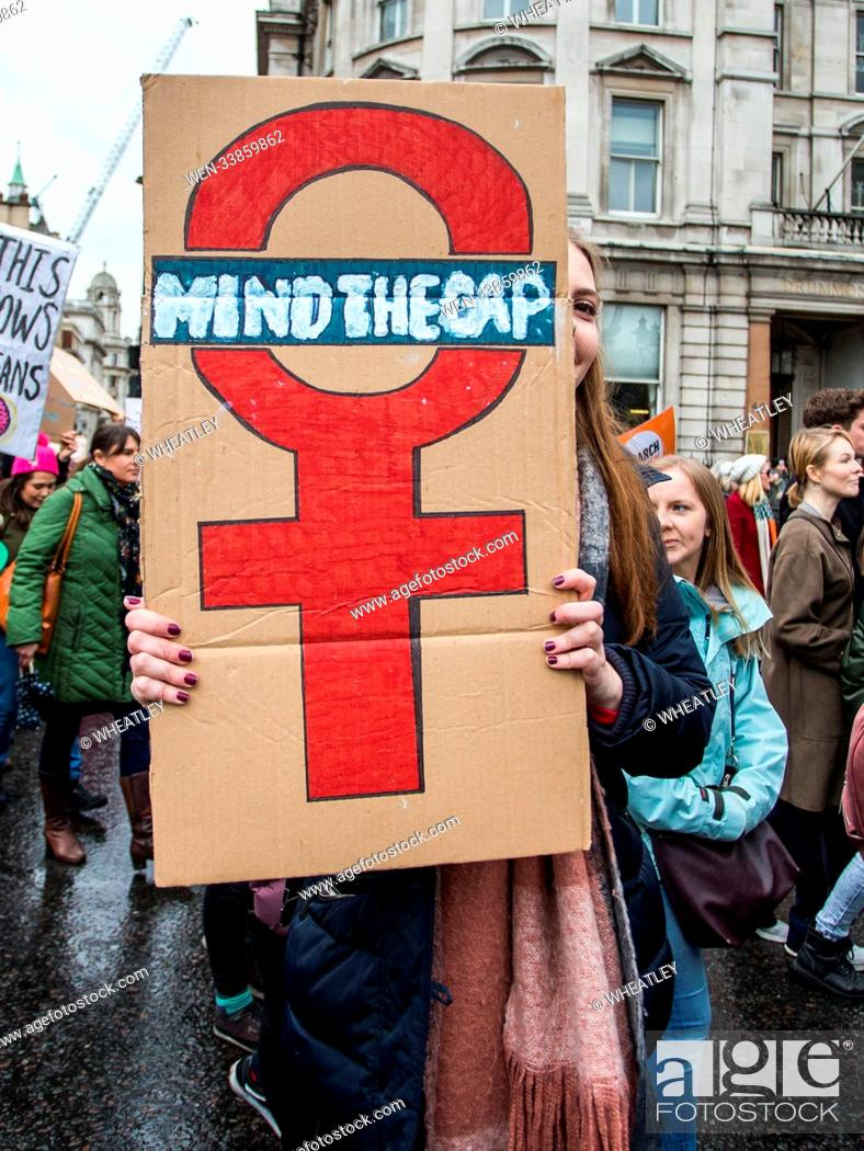 Stock Photo: Musicians, activists, actors, politicians and the Mayor of London among the marchers for CARE International's annual march ahead of International Women's Day.