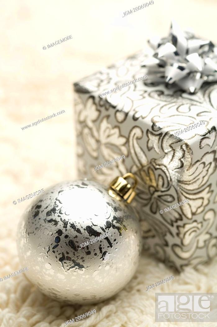Stock Photo: Gift, Christmas Bauble.