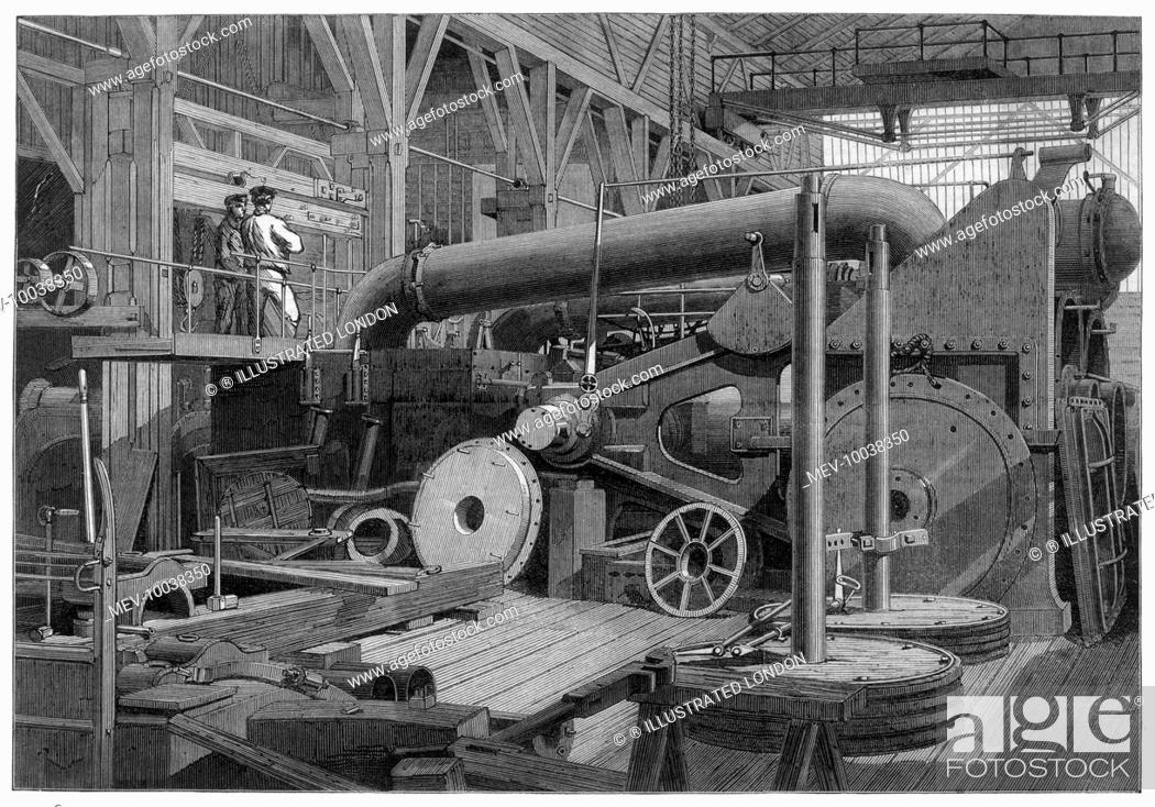 Steam engine, used in the erecting shop, Penn's marine