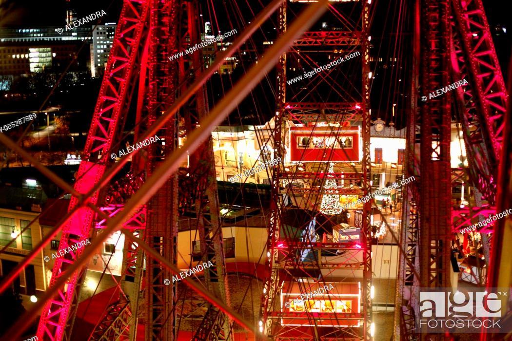 Stock Photo: Night view of Vienna.