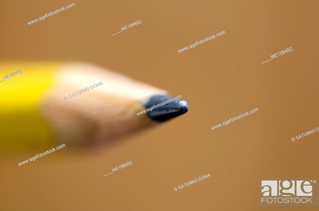 Stock Photo: pencil point.