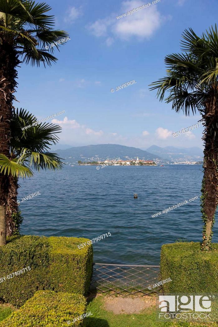 Stock Photo: Borromean Islands, Lake Maggiore, Piedmont, Italy.