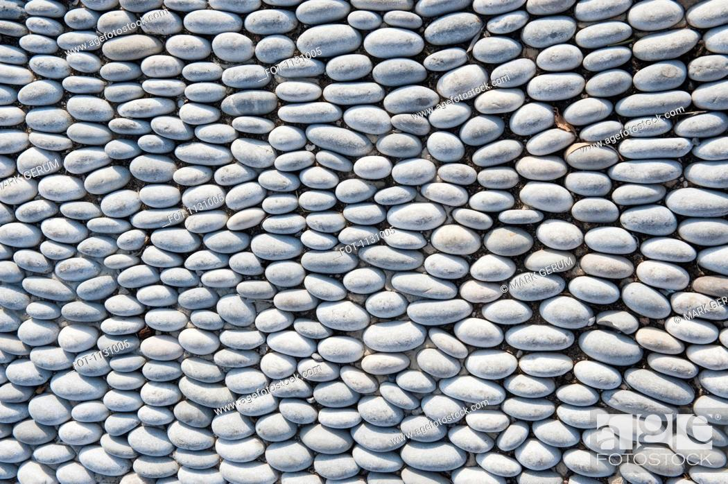 Stock Photo: An arrangement of smooth stones.