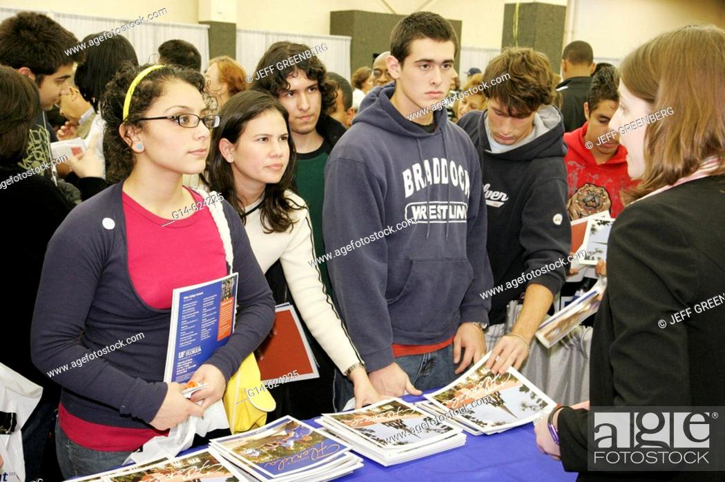 Florida Miami National College Fair University Of Florida Stock Photo Picture And Rights Managed Image Pic G14 624225 Agefotostock