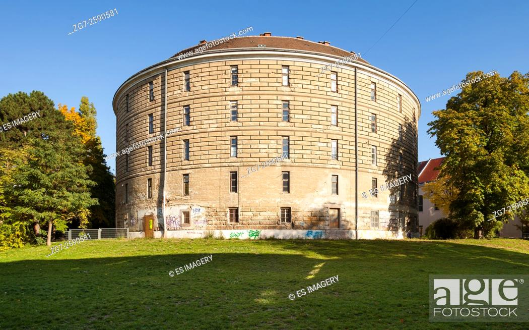 Stock Photo: Narrenturm (Fool's Tower) on the old Vienna General Hospital campus, Austria.