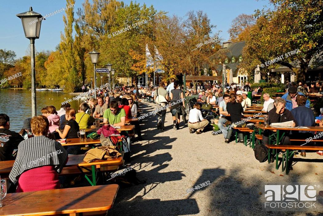 Biergarten Beer Garden At Seehaus Kleinhesseloher See Englischer