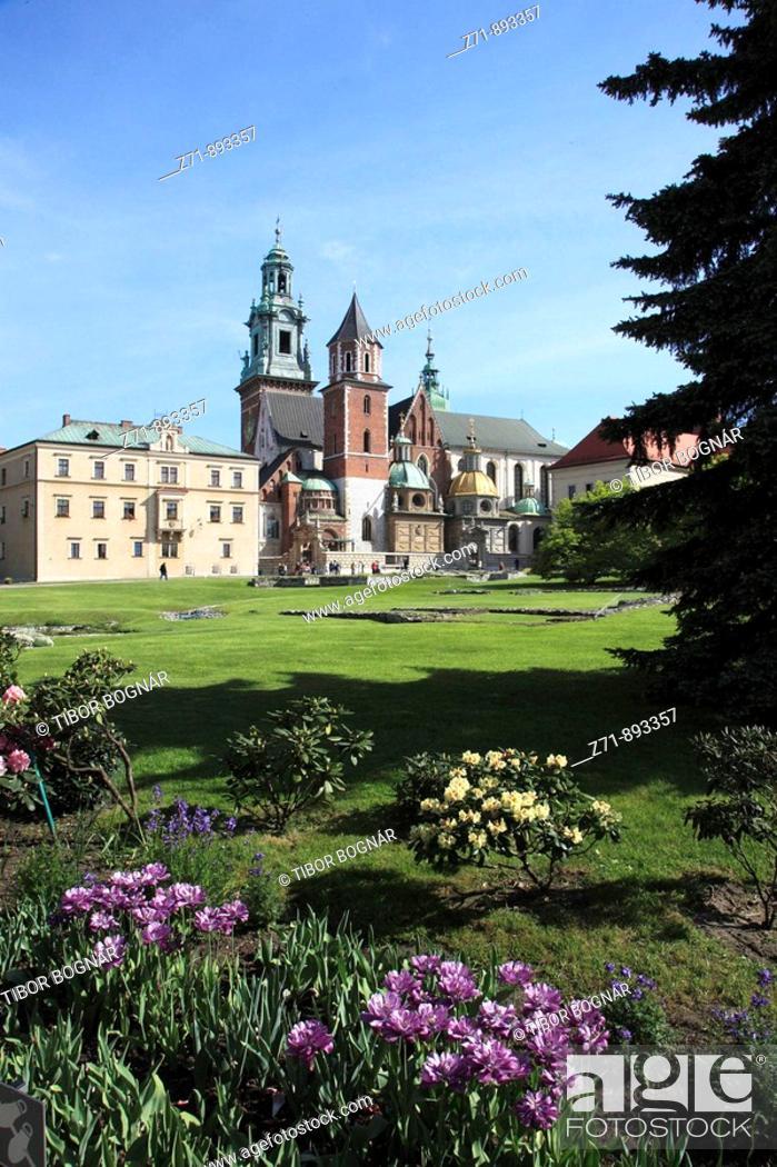 Stock Photo: Poland, Krakow, Wawel Cathedral.