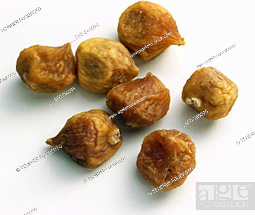 Stock Photo: Dried baby figs (Ficus carica), Iran.