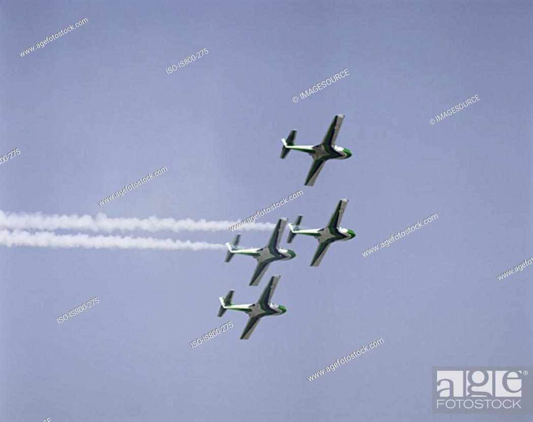 Stock Photo: Air force aerobatic team.