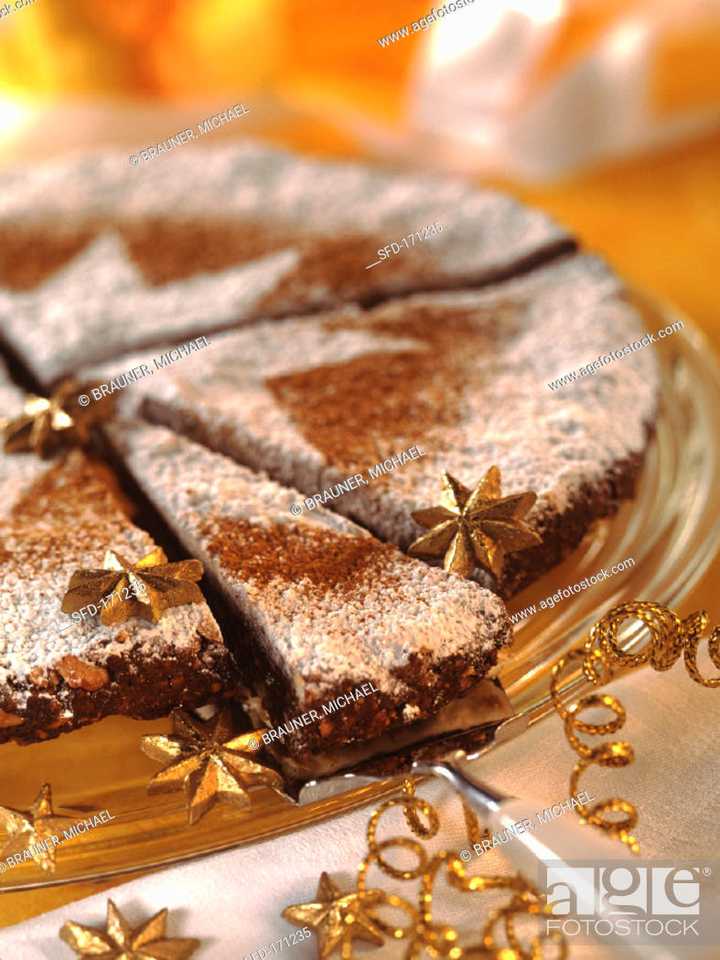 Stock Photo: Spiced cake from Tuscany (Panforte di Siena).
