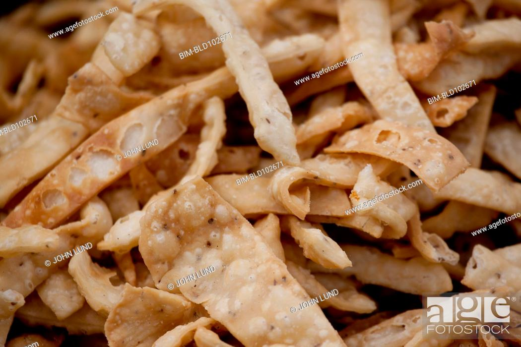 Stock Photo: Close up of fried Indian snack.