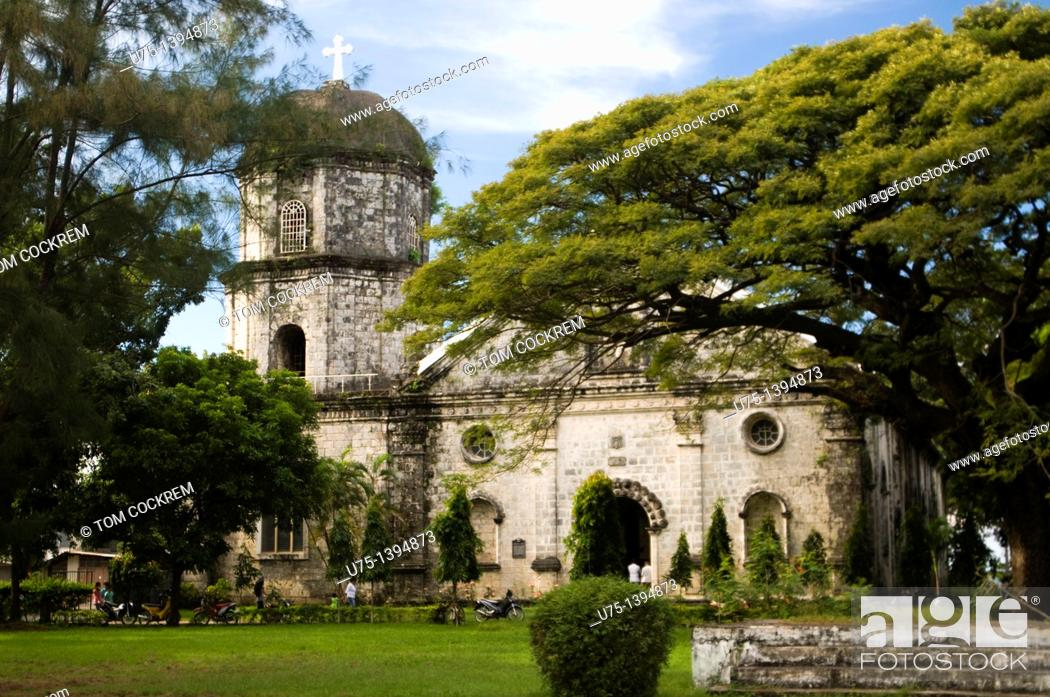 Stock Photo: Anini-y church, Panay, Philippines.