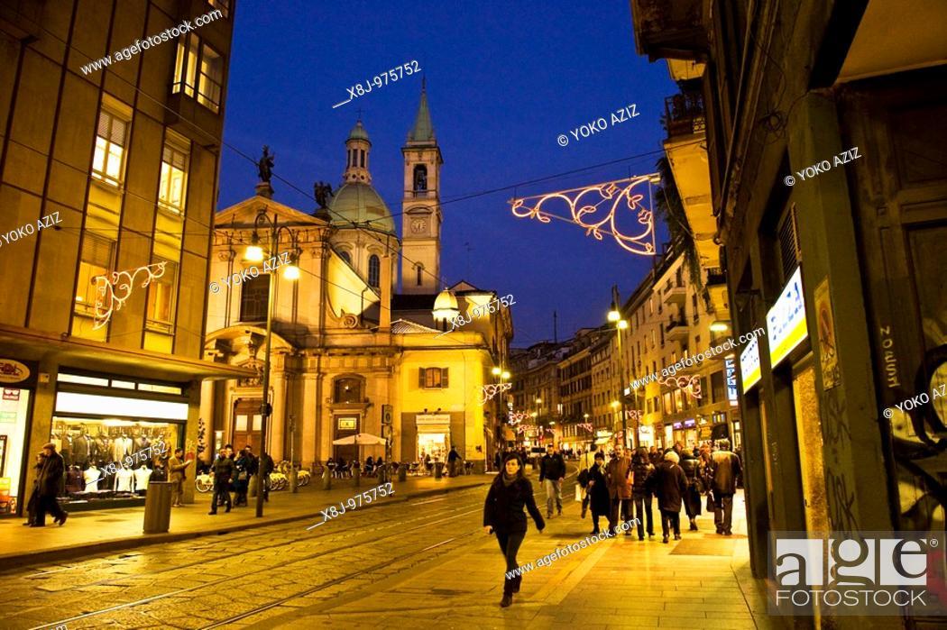 Imagen: Corso Torino, Milan, Lombardy, Italy, Europe.