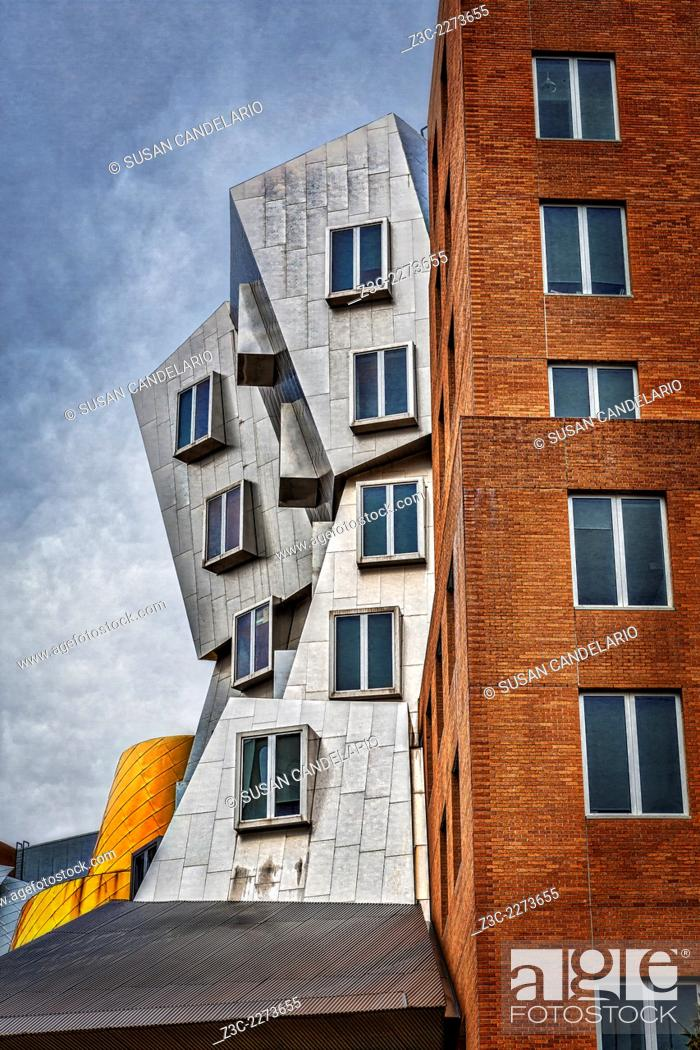 Stock Photo: MIT Stata Building Center - Cambridge - The Ray and Maria Stata Center university complex by Pritzker Prize award winning architect Frank Gehry for the.