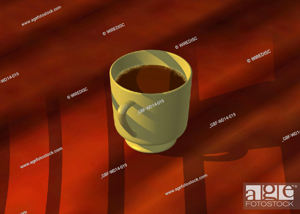 Stock Photo: Illustration, cup, coffee.