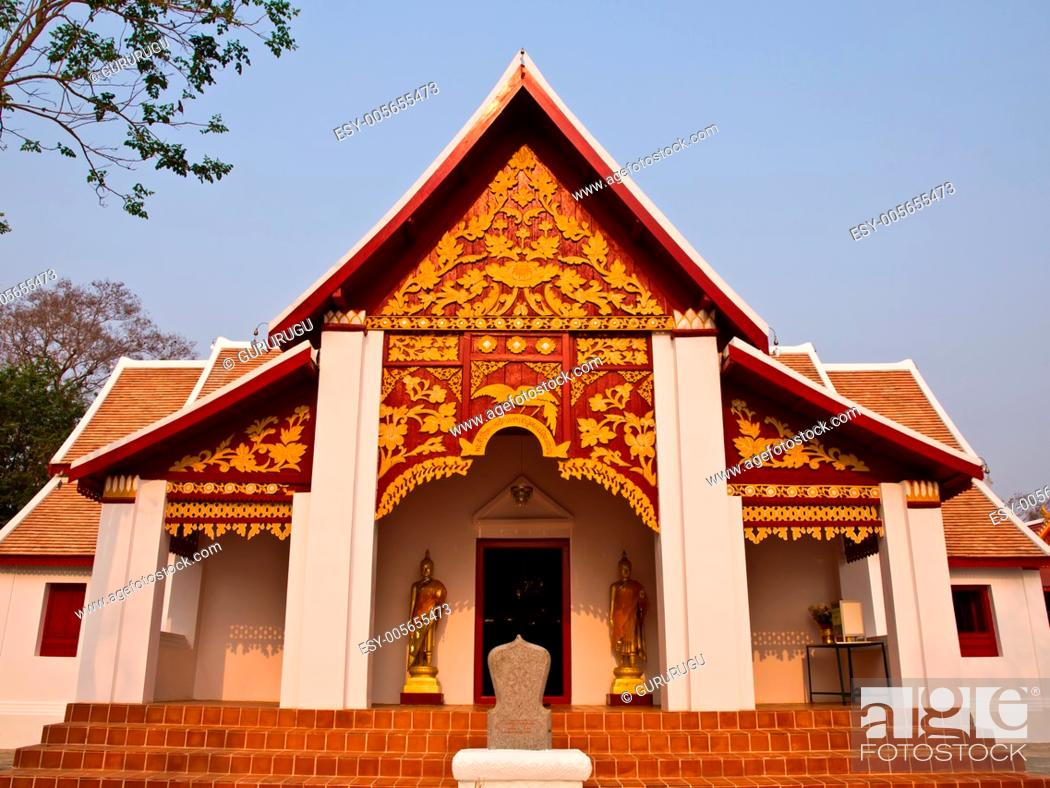 Stock Photo: Buddhist Monastry, wat Phra that kao noi, Nan Thailand.