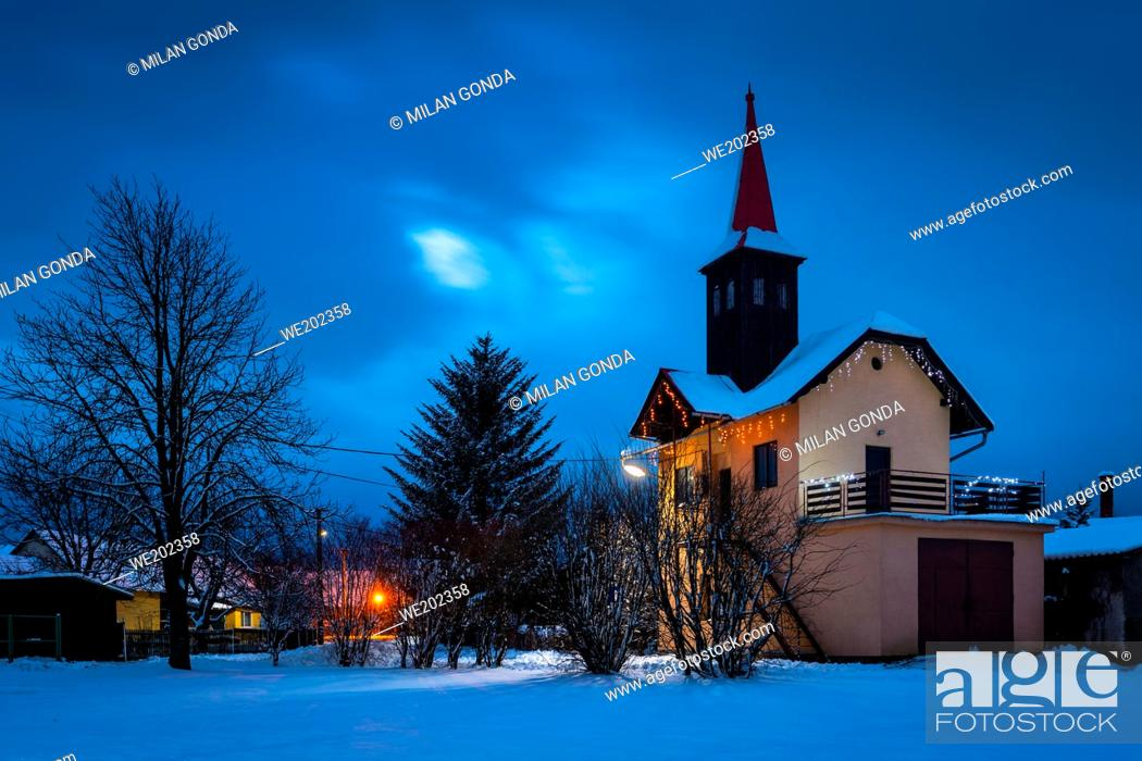 Stock Photo: Fire station in Benice village, Turiec region, Slovakia.