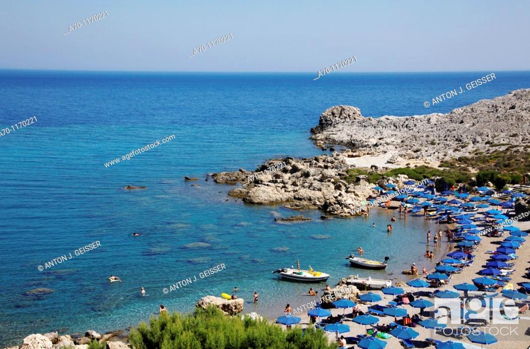 Stock Photo: Lardos beach , rhodes greece.