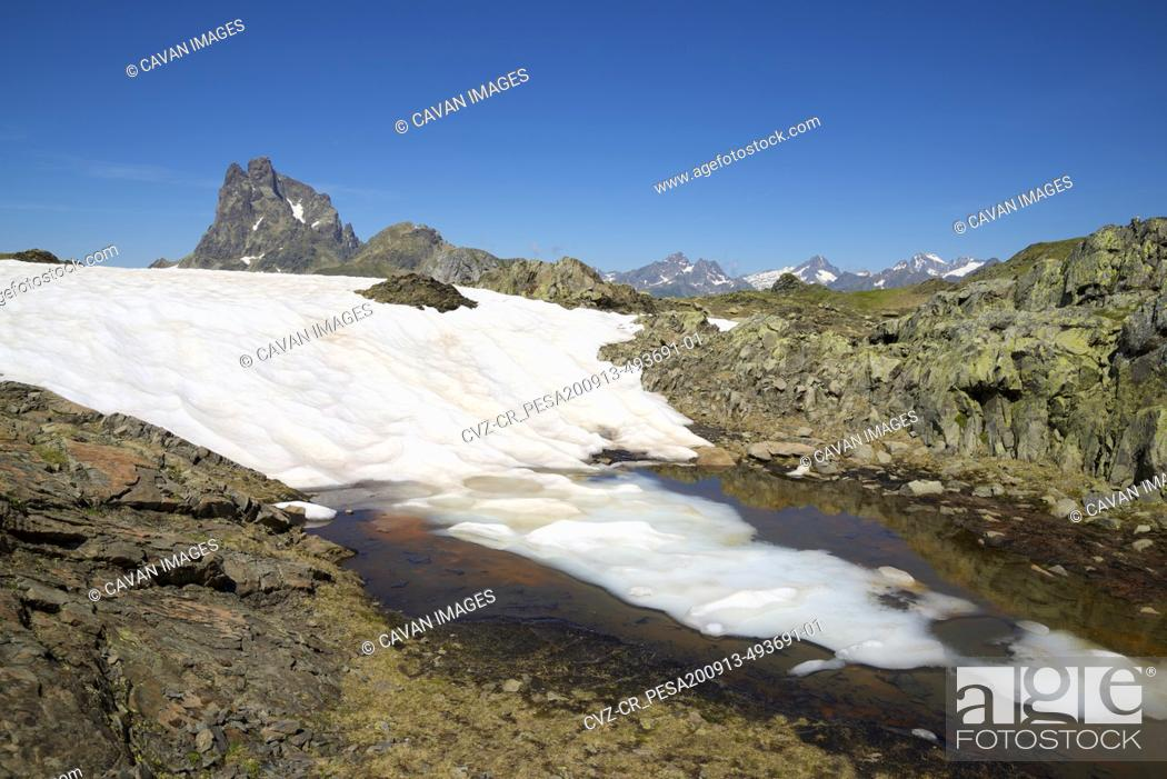 Stock Photo: Landscape in Ossau Valley, Pyrenees in France.