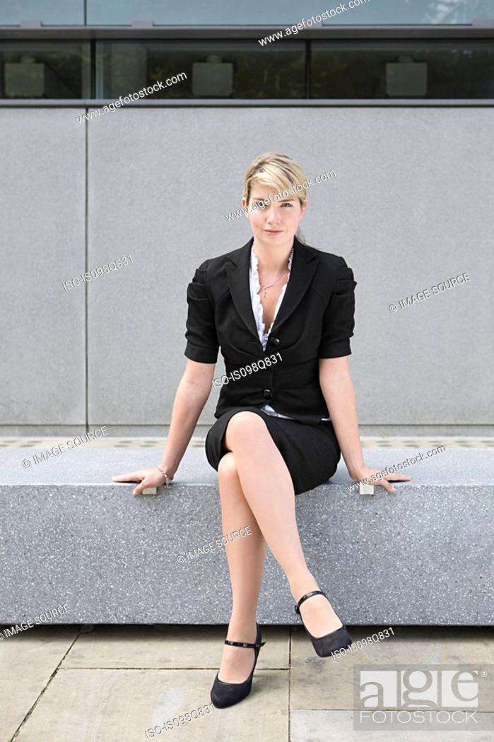 Stock Photo: Female office worker.