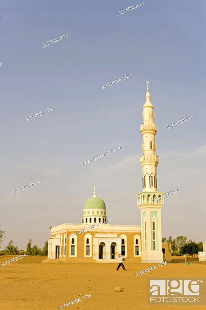 Stock Photo: Sudan, Bayuda desert, mosque.