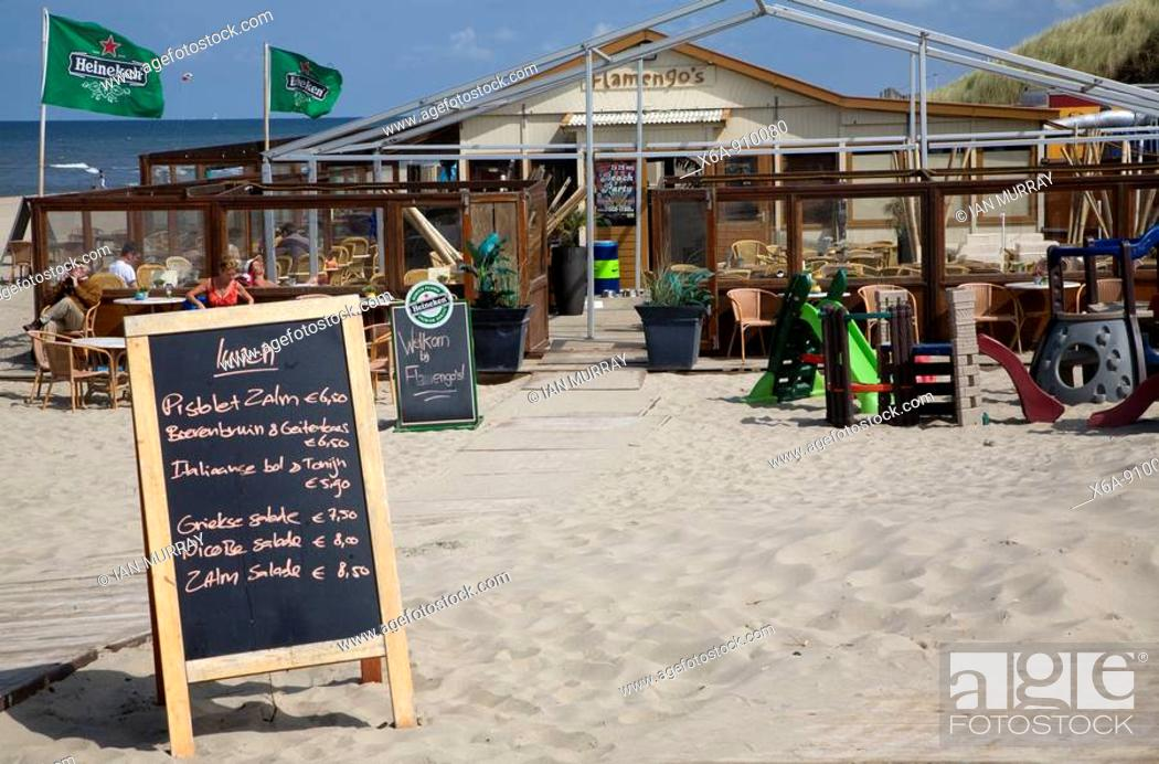 Kijkduin Beach Restaurant Scheveningen Holland Stock Photo