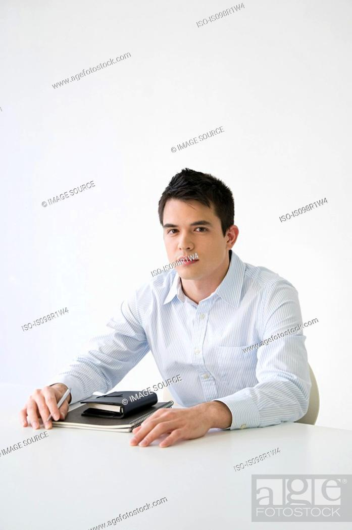 Stock Photo: Portrait of an office worker.