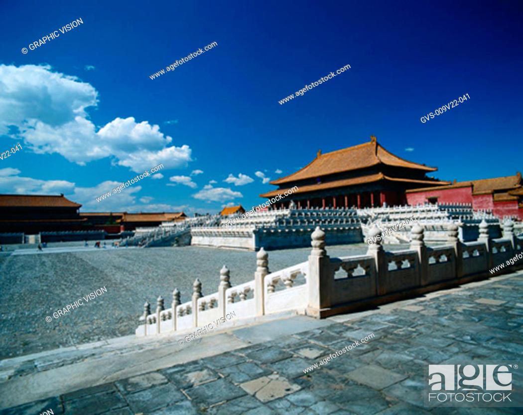 Stock Photo: Hall of Supreme Harmony, Forbidden City, Beijing, China.